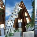 طراحی نما و معماری منظر ساختمان لند لاین ( land line building )