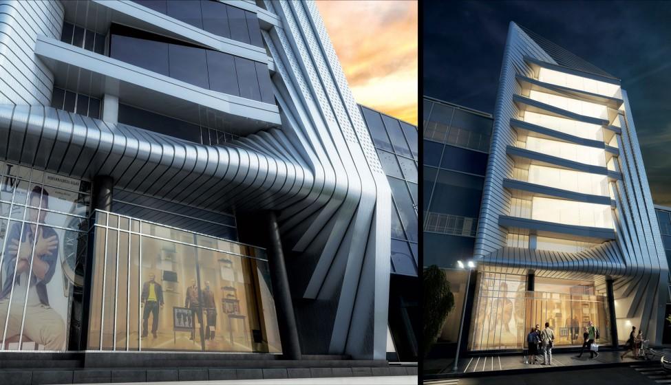 طراحی نمای پروژه مرکز پاویلیون